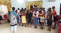 Vocal practice classes in Cameroon