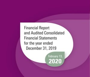 Financial Report and Audited Consolidated Financial Statements for the year ended December 31, 2019