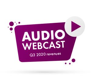 Audio webcast – Q3 2020 revenues