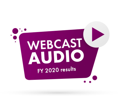 Audio webcast – FY 2020 results